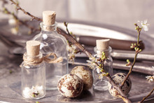 Easter Interior With Vials And...