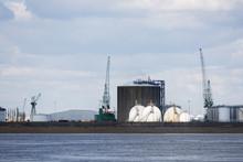 Antwerp Port Oil And Gas Storage Tanks