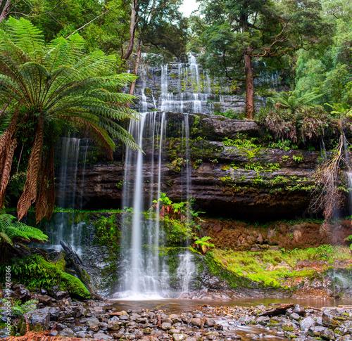 The Russell Falls, a tiered–cascade waterfall on the Russell Falls Creek.Tasmania, Australia © Yevgen Belich