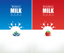 Milk Splash With Blueberry And...