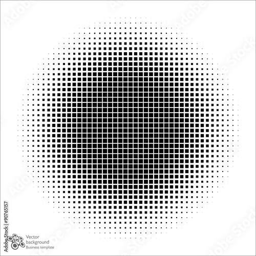 Vector Background Square Dot Pattern Halftone Circle Buy This