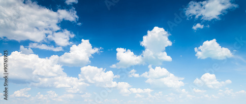 Canvas Prints Heaven blue sky with cloud closeup