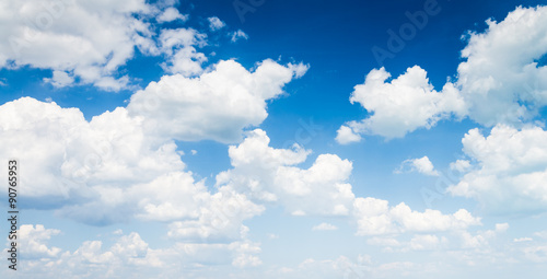 Foto op Canvas Hemel blue sky with cloud closeup