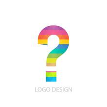 Vector Illustration Of A Question Mark Logo
