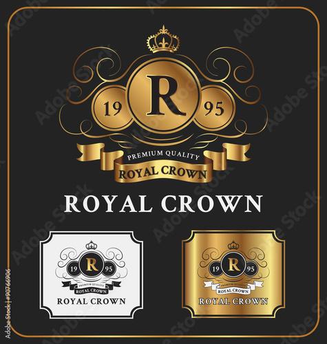 Heraldic Crest Logo Template Design Retro Vintage Royal Luxury Elegant Crests With Monogram Suitable