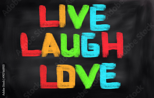 Photo  Live Laugh Love Concept