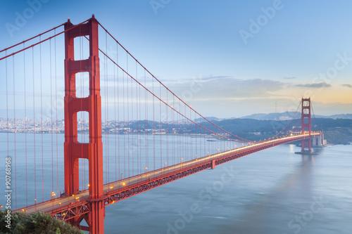 Poster Lieux connus d Amérique Golden Gate Bridge, San Francisco, California, USA