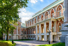 Grand Palace Of Catherine The Great In Tsaritsyno, Moscow, Russia