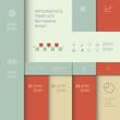 Infographics vector template. Business data presentation menu