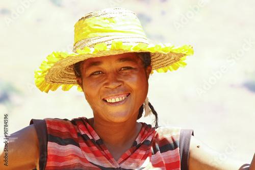 fototapeta na lodówkę Portrait of African woman, Madagascar