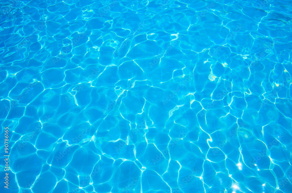 Fototapety, obrazy: Blue ripped water in swimming pool