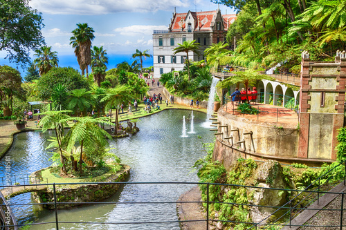 Aluminium Prints Garden Scenic of Monte Palace Tropical Garden. Funchal, Madeira Island, Portugal