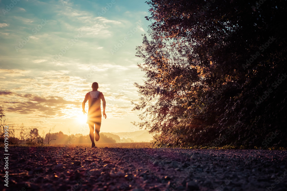 Fototapety, obrazy: Running in the country