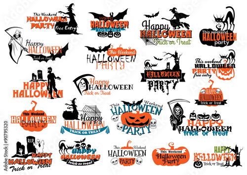 Halloween party banners and headers Slika na platnu