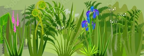 Photo sur Toile Vert Floral background