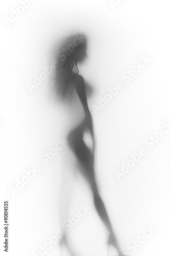 Obraz Sexy woman body silhouette - fototapety do salonu