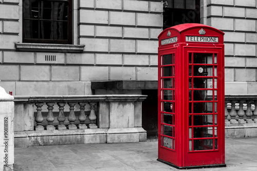 Photo  Traditional Red London Telephone Box