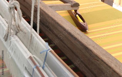 Fotografie, Obraz  Old weaving loom and shuttle