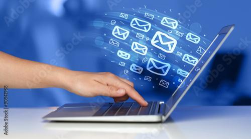 Fotografie, Obraz  Concept of sending e-mails