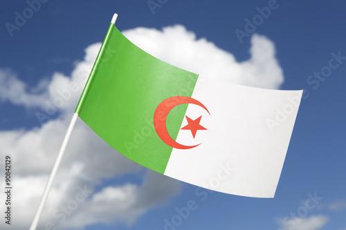 Deurstickers Algerije Algeria flag