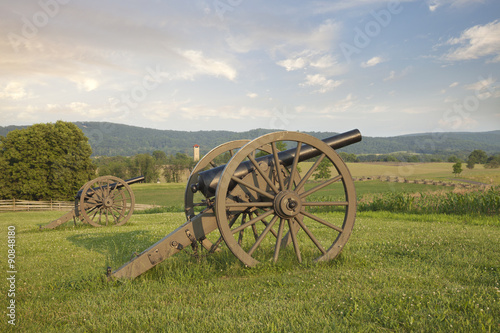 Fotografie, Obraz  Cannons at Antietam (Sharpsburg) Battlefield in Maryland