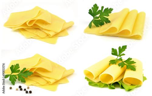 ser żółty - plastry - fototapety na wymiar
