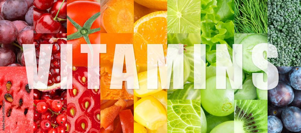 Fototapeta Vitamins
