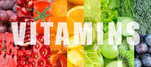 Stampa su Tela  Vitamins