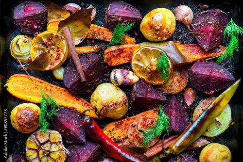 Fototapeta Roasted vegetables obraz