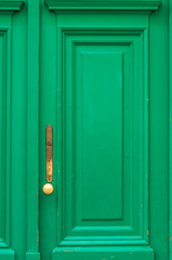 Detail of old green door