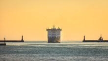 Large Cruise Ship Approaching ...