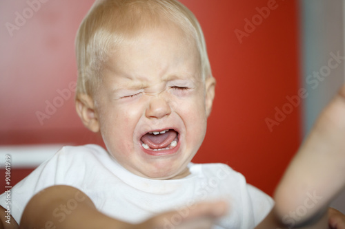 Small, crying and raging toddler having a temper tantrum Tapéta, Fotótapéta