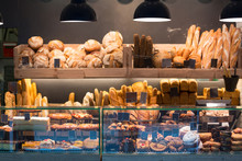 Modern Bakery With Assortment Of Bread