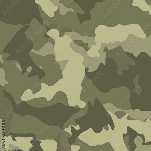Fotografía  Green camouflage. Military vector background.