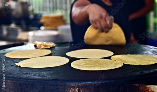Fotografie, Obraz  Freshly made Tortillas