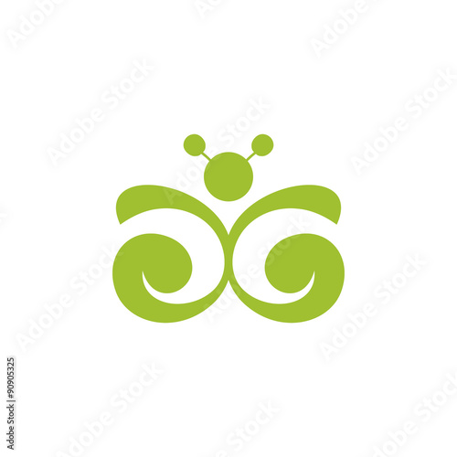 Fotografie, Obraz  Butterfly sign. Vector Illustration.