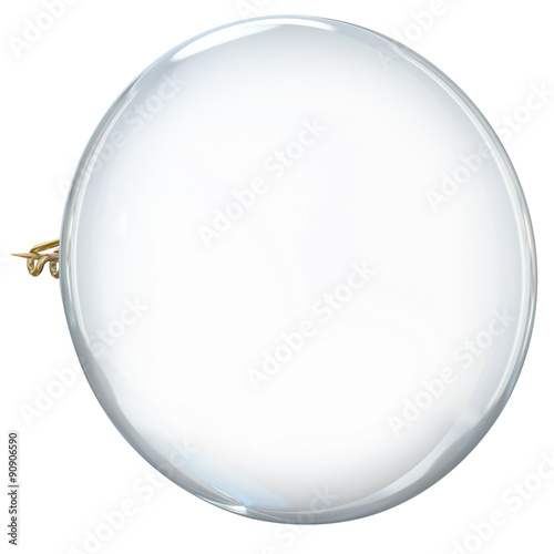 Staande foto Bol White Pin Round Button Wear Show Your Pride Blank Copy Space
