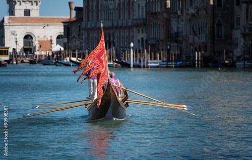 Fotografie, Obraz  Historical regatta Venice 2015