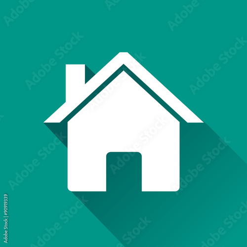 Fotografie, Obraz  home flat design icon