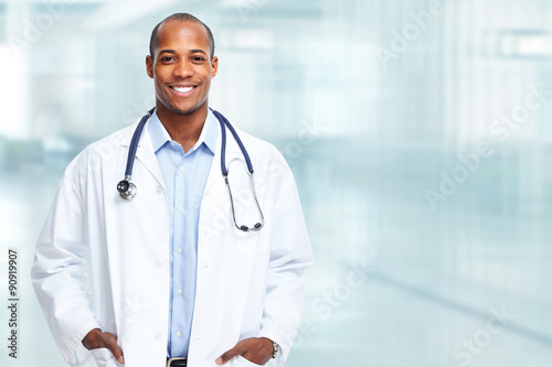 African american medical doctor man. Canvas Print