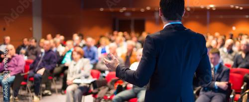 Obraz na płótnie Speaker at Business Conference and Presentation.