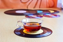 Strong Black Tea In Glass Cup ...