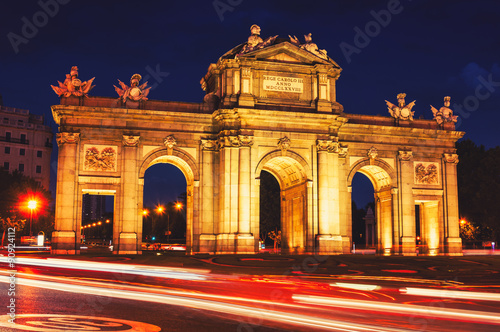 In de dag Madrid The Puerta de Alcala at night in Madrid
