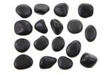 Fototapeta Kamienie - black stones isolated