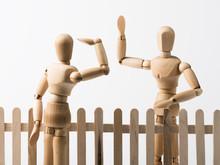 Nachbarschaftsstreit Am Zaun