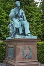 Monument Of Hans Christian Andersen In Kings Garden In The Center Of Copenhagen