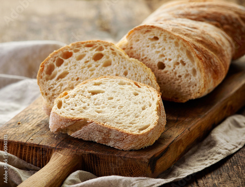 Photo Stands Bread freshly baked ciabatta bread