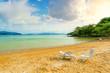 Sea sandy beach, summer vacation, travel