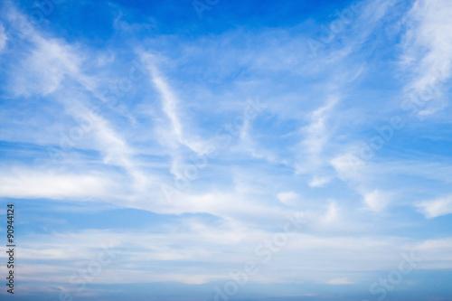 Fotografie, Tablou  Altostratus and altocumulus. Blue sky and clouds