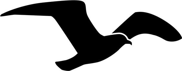 Galeb koji leti siluetu